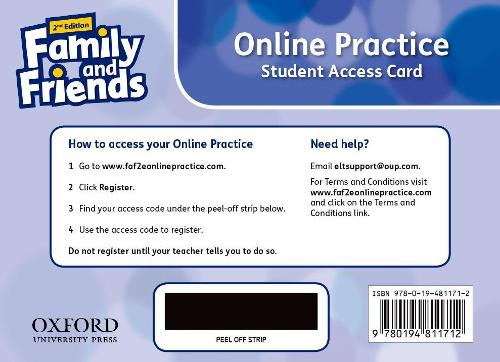 Family and Friends: Level 6: Online Practice Student Access Card - Family and Friends