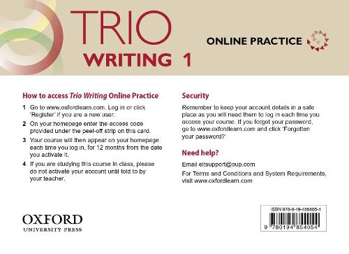Trio Writing: Level 1: Online Practice Student Access Card: Building Better Writers...From The Beginning - Trio Writing