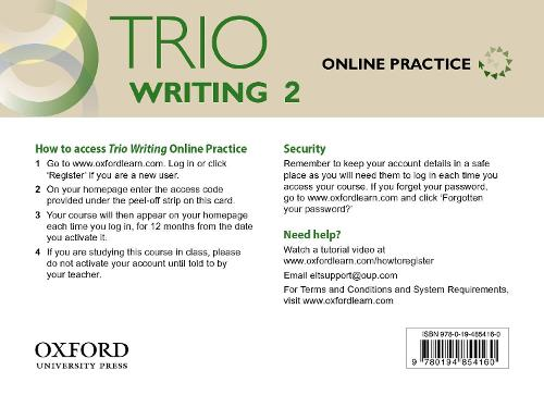 Trio Writing: Level 2: Online Practice Student Access Card: Building Better Writers...From The Beginning - Trio Writing