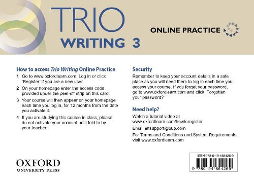 Trio Writing: Level 3: Online Practice Student Access Card: Building Better Writers...From The Beginning - Trio Writing