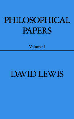 Philosophical Papers: Volume I - Philosophical Papers (Paperback)