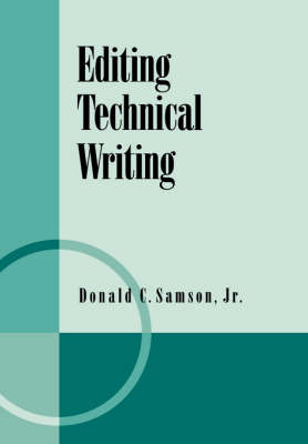Editing Technical Writing (Paperback)