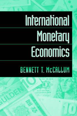 International Monetary Economics (Hardback)