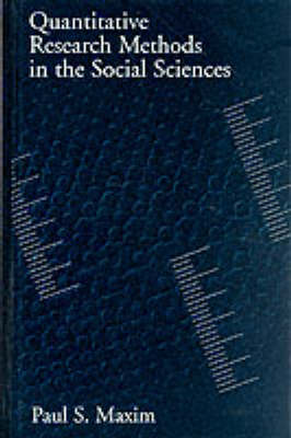 Quantitative Research Methods in the Social Sciences (Hardback)