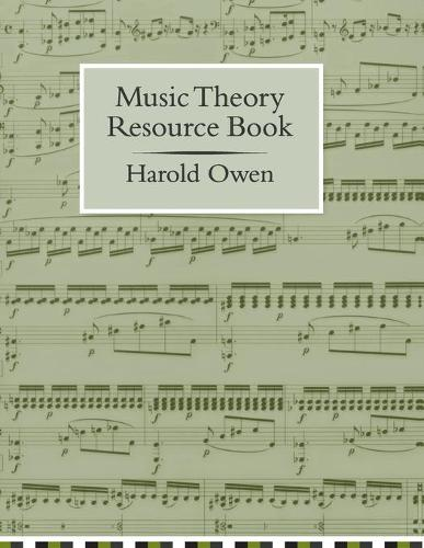 Music Theory Resource Book (Paperback)