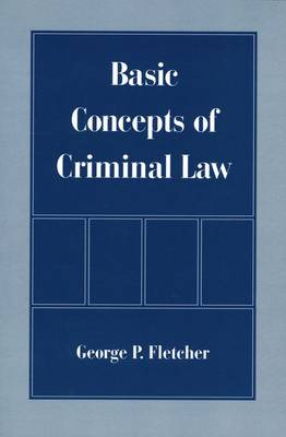 Basic Concepts of Criminal Law (Paperback)