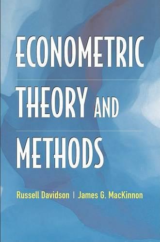 Econometric Theory and Methods (Hardback)