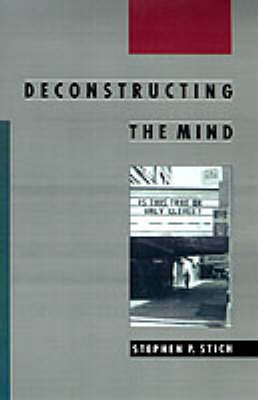 Deconstructing the Mind - Philosophy of Mind (Paperback)