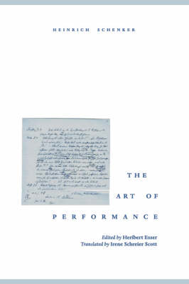 The Art of Performance (Paperback)