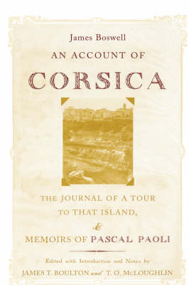 An Account of Corsica, the Journal of a Tour to That Island, and Memoirs of Pascal Paoli (Hardback)