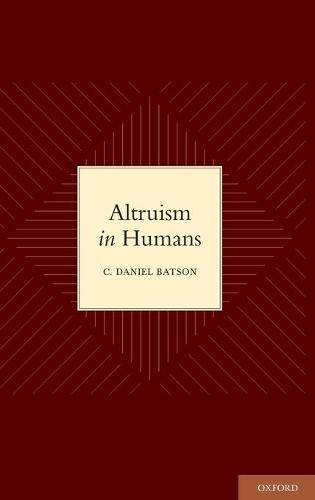 Altruism in Humans (Hardback)