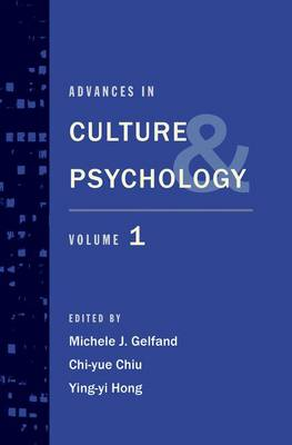 Advances in Culture and Psychology: Volume 1 - Advances in Culture and Psychology (Hardback)