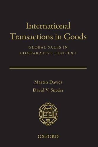 International Transactions in Goods: Global Sales in Comparative Context (Hardback)