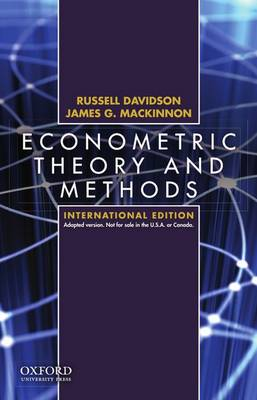 Econometric Theory and Methods: International Edition (Paperback)