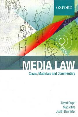 Media Law: Cases and Commentary (Paperback)