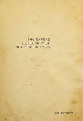 Oxford Dictionary of New Zealandisms (Paperback)