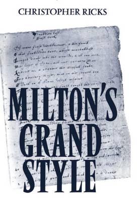 Milton's Grand Style (Paperback)