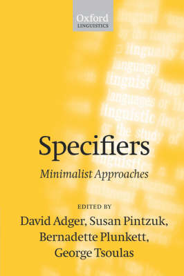 Specifiers: Minimalist Approaches (Paperback)