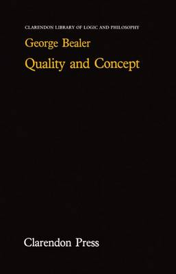 Quality and Concept - Clarendon Library of Logic and Philosophy (Hardback)