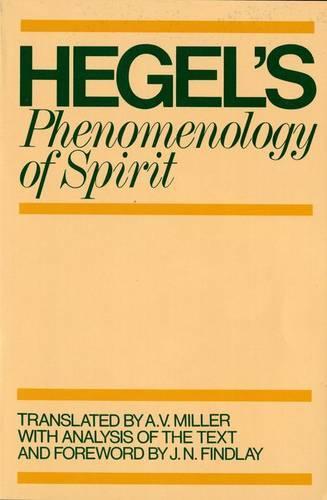 Phenomenology of Spirit - Galaxy Books 569 (Paperback)