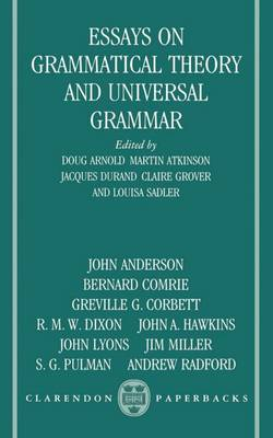 Essays on Grammatical Theory and Universal Grammar (Paperback)