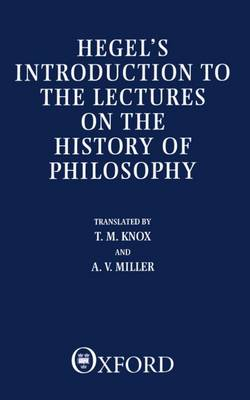 Introduction to the Lectures on the History of Philosophy (Paperback)