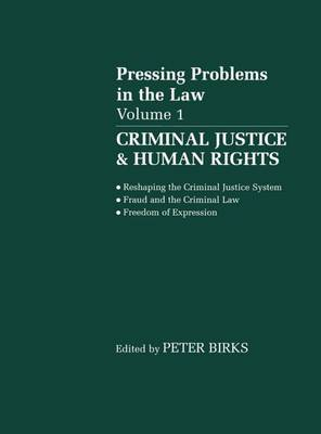 Criminal Justice and Human Rights: Pressing Problems in the Law, Volume 1 (Paperback)