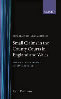 Small Claims in the County Courts in England and Wales: The Bargain Basement of Civil Justice - Oxford Socio-Legal Studies (Hardback)