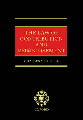 The Law of Contribution and Reimbursement (Hardback)