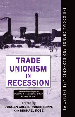 Trade Unionism in Recession - Social Change and Economic Life Initiative (Hardback)