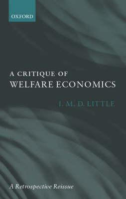 A Critique of Welfare Economics (Hardback)
