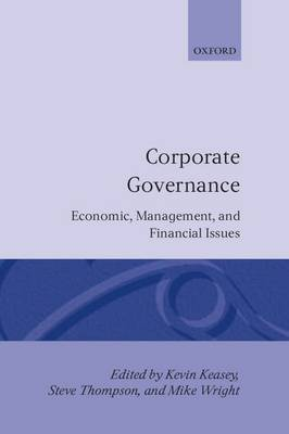 Corporate Governance: Economic and Financial Issues (Hardback)