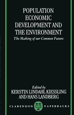 Population, Economic Development, and the Environment (Paperback)