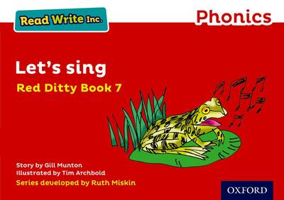 Read Write Inc. Phonics: Red Ditty Book 7 Let's Sing - Read Write Inc. Phonics (Paperback)