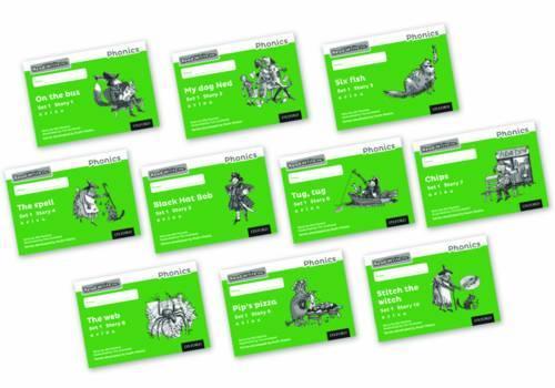 Read Write Inc. Phonics: Black and White Green Set 1 Storybooks Mixed Pack of 10 - Read Write Inc. Phonics