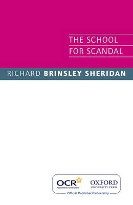 OCR the School for Scandal (Paperback)