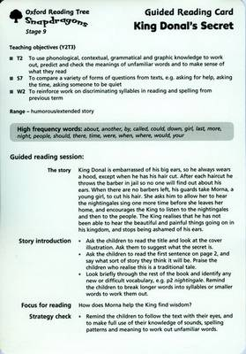 Oxford Reading Tree: Stage 9: Snapdragons: Guided Reading Cards (6 Per Pack)
