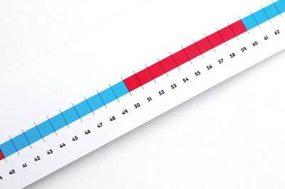 Numicon: 0-100cm scale Number Line - Numicon (Poster)