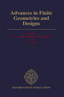 Advances in Finite Geometries and Designs: Proceedings of the Third Isle of Thorns Conference 1990 (Hardback)