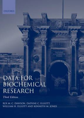 Data for Biochemical Research (Paperback)