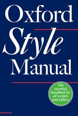 The Oxford Style Manual (Hardback)