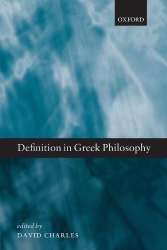Definition in Greek Philosophy (Paperback)
