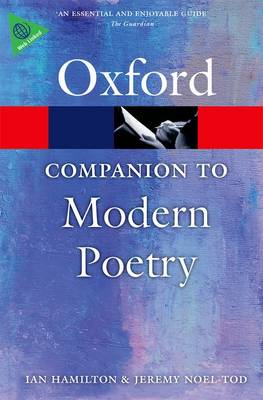 The Oxford Companion to Modern Poetry in English - Oxford Quick Reference (Paperback)