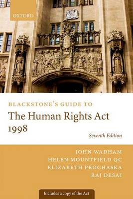 Blackstone's Guide to the Human Rights Act 1998 - Blackstone's Guides (Paperback)