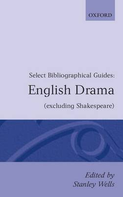 English Drama: (Excluding Shakespeare) (Paperback)
