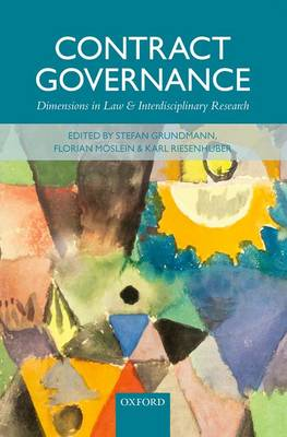 Contract Governance: Dimensions in Law and Interdisciplinary Research (Hardback)
