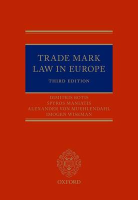 Trade Mark Law in Europe 3e (Hardback)