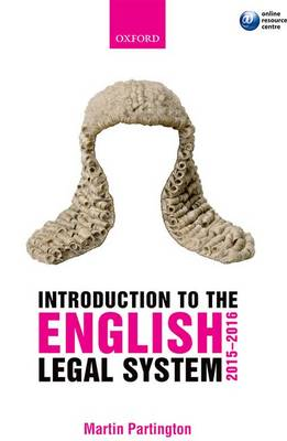 Introduction to the English Legal System 2015-2016 (Paperback)