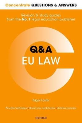 Concentrate Questions and Answers EU Law: Law Q&A Revision and Study Guide - Concentrate Law Questions & Answers (Paperback)