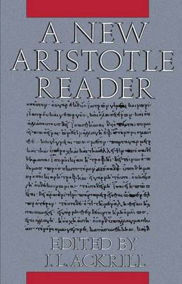 A New Aristotle Reader (Paperback)